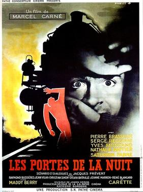 Gates of the Night, (aka Les Portes de la Nuit), French poster, Yves Montand, 1946