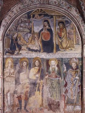Nativity and Saints, Fresco by Gaudenzio Ferrari