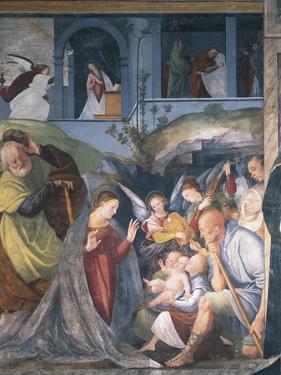 Nativity, Fresco by Gaudenzio Ferrari