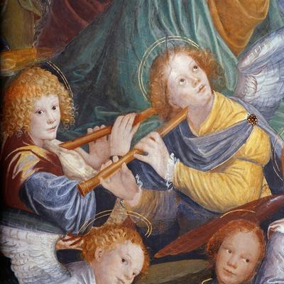 The Concert of Angels, 1534-36 (Fresco) (Detail) (See 175762)