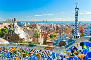 Gaudi's Park Guell Barcelona