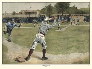 Thrown out on 2nd 1887 by Gaul