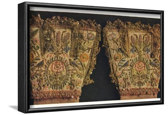 'Gauntlets of a pair of gloves, believed to have belonged to Prince Rupert', c17th centur-Unknown-Framed Photographic Print