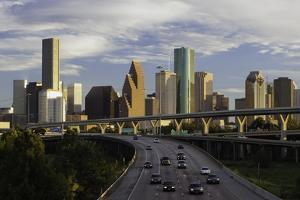 City Skyline and Interstate, Houston, Texas, United States of America, North America by Gavin