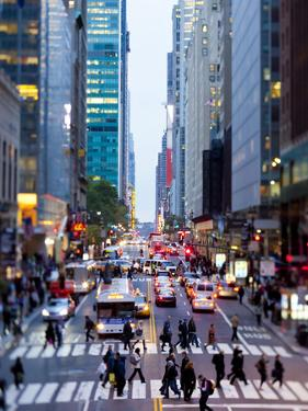 42nd Street in Mid Town Manhattan, New York City, New York, United States of America, North America by Gavin Hellier