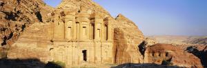 Al Deir (Ad-Deir), the Monastery, in the 'Rose Red City' of the Nabateans, Petra, Jordan by Gavin Hellier