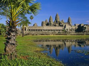 Angkor Wat, Temple in the Evening, Angkor, Siem Reap, Cambodia by Gavin Hellier