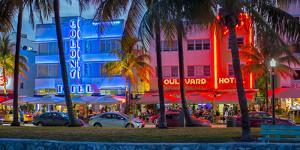 Art Deco District, Ocean Drive, South Beach, Miami Beach, Miami, Florida, USA by Gavin Hellier