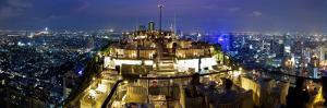 Bangkok City Skyline from Vertigo, a Bar and Restaurant on Top of the Banyan Tree Hotel by Gavin Hellier
