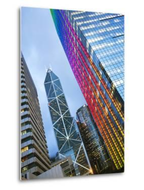 Bank of China Building and Hong Kong Skyline at Dusk, Central Business and Financial District, Hong by Gavin Hellier