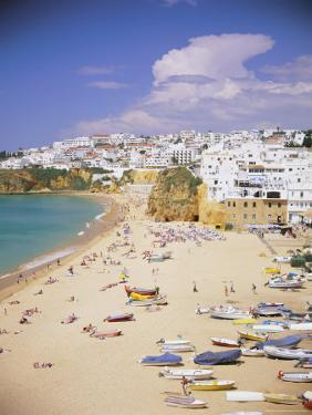 Beach and Town, Albufeira, Algarve, Portugal, Europe by Gavin Hellier