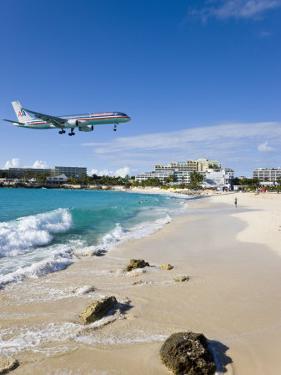 Beach at Maho Bay, St. Martin, Leeward Islands, West Indies by Gavin Hellier