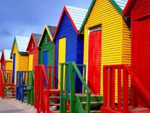Beach Huts, Fish Hoek, Cape Peninsula, Cape Town, South Africa, Africa by Gavin Hellier