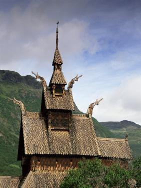 Best Preserved 12th Century Stave Church in Norway, Borgund Stave Church, Western Fjords, Norway by Gavin Hellier