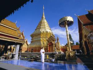 Buddhist Temple of Wat Phra That Doi Suthep, Doi Suthep, Chiang Mai, Northern Thailand, Asia by Gavin Hellier