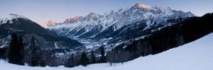 Chamonix Valley, Mont Blanc and the Mont Blanc Massif Range of Mountains by Gavin Hellier