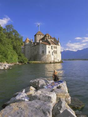 Chateau Chillon, Lake Geneva (Lac Leman), Switzerland, Europe by Gavin Hellier