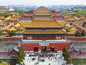 China, Beijing, the Forbidden City in Beijing Looking South by Gavin Hellier