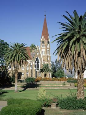 Christuskirche (Lutheran Christian Church) and Parliament Gardens, Windhoek, Namibia, Africa by Gavin Hellier