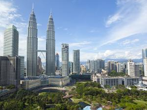 City Centre with KLCC Park Convention/Shopping Centre and Petronas Towers, Kuala Lumpur, Malaysia by Gavin Hellier