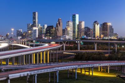 City Skyline and Interstate, Houston, Texas, Usa by Gavin Hellier