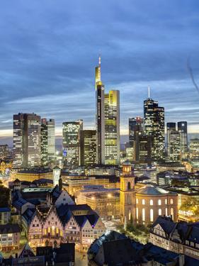 City Skyline, Frankfurt-am-Main, Hessen, Germany by Gavin Hellier