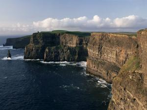 Cliffs of Moher, Rising to 230M in Height, O'Brians Tower and Breanan Mor Seastack, County Clare by Gavin Hellier