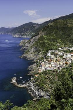 Clifftop Village of Riomaggiore, Cinque Terre, UNESCO World Heritage Site, Liguria, Italy, Europe by Gavin Hellier