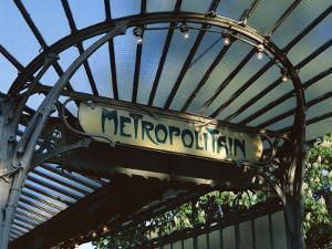 Close-up of Metropolitain (Metro) Station Entrance, Art Nouveau Style, Paris, France, Europe by Gavin Hellier