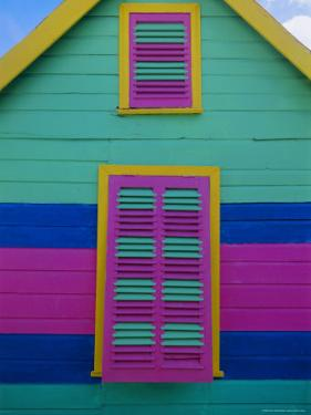 Colourful Chattel House Front, Barbados, West Indies, Caribbean, Central America by Gavin Hellier
