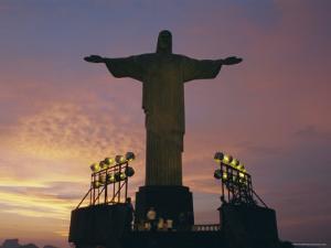 Cristo Redentor (Christ the Redeemer) on Mt. Corcovado Above Rio De Janeiro, Brazil, South America by Gavin Hellier