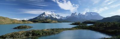 Cuernos Del Paine Rising up Above Lago Pehoe, Torres Del Paine National Park, Patagonia, Chile by Gavin Hellier