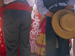 Details of Dress, Romeria Del Rocio Festival, El Rocio, Andalucia (Andalusia), Spain, Europe by Gavin Hellier