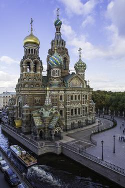Domes of Church of the Saviour on Spilled Blood, UNESCO World Heritage Site, St. Petersburg, Russia by Gavin Hellier