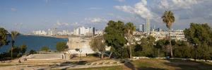 Downtown Buildings Viewed from Hapisgah Gardens Park, Jaffa, Tel Aviv, Israel, Middle East by Gavin Hellier