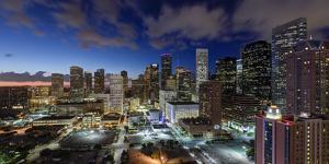 Downtown City Skyline, Houston, Texas, Usa by Gavin Hellier