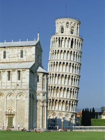 Duomo and the Leaning Tower in the Campo Dei Miracoli, Pisa, Tuscany, Italy by Gavin Hellier