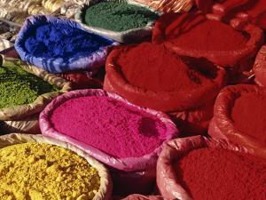 Dyes for Sale, Kathmandu, Nepal by Gavin Hellier