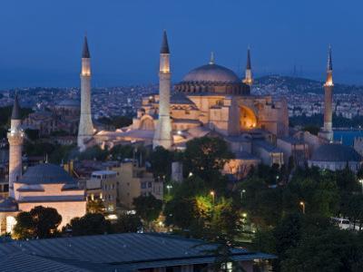 Elevated View of Aya Sofya, in Sultanahmet, Istanbul, Turkey
