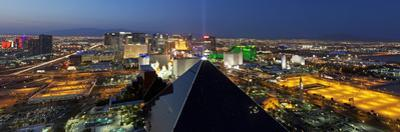 Elevated View of Casinos on the Strip, Las Vegas, Nevada, USA by Gavin Hellier
