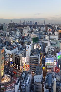 Elevated View of Shinjuku Skyline Viewed from Shibuya, Tokyo, Honshu, Japan, Asia by Gavin Hellier