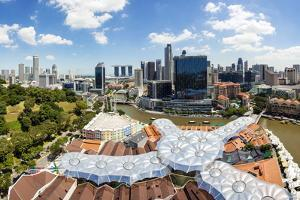 Elevated View over Fort Canning Park and the Modern City Skyline, Singapore, Southeast Asia, Asia by Gavin Hellier