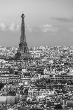 Elevated View over the City with the Eiffel Tower in the Distance, Paris, France, Europe by Gavin Hellier