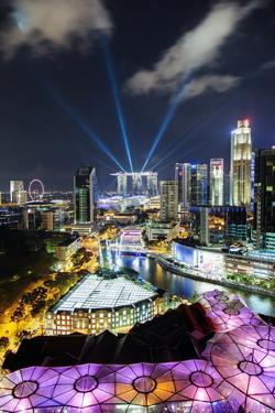 Elevated View over the Entertainment District of Clarke Quay by Gavin Hellier