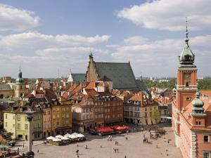 Elevated View Over the Royal Castle and Castle Square, Old Town, Warsaw, Poland by Gavin Hellier