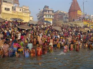 Ganges River, Makar San Kranti, Varanasi, Uttar Pradesh State, India by Gavin Hellier