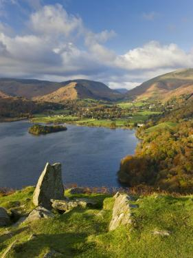 Grasmere Lake and Village from Loughrigg Fell, Lake District, Cumbria, England by Gavin Hellier
