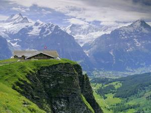 Grindelwald and North Face of the Eiger Mountain, Swiss Alps, Switzerland by Gavin Hellier
