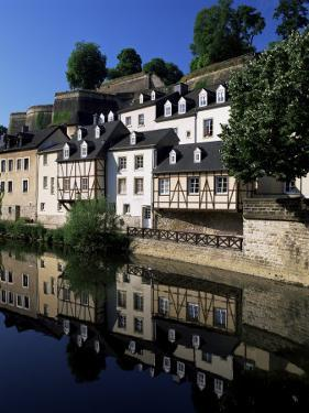 Houses Along the River in the Old Town, Luxembourg City, Luxembourg by Gavin Hellier