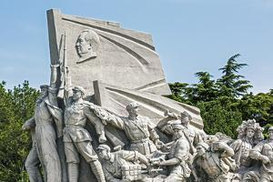 Idealized Statue of Socialist Workers Next to Mao's Museum, Tiananmen Square, Beijing, China by Gavin Hellier